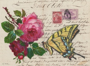Tiger Swallowtail & Red Roses - Maryjo Koch